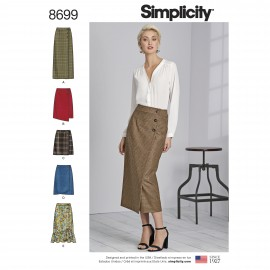 Patron Jupe portefeuille Femme - Simplicity n°8699