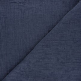 Plain bamboo double gauze fabric - dark grey x 10cm