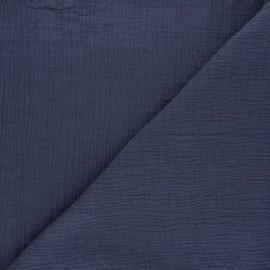 Tissu double gaze bambou uni - gris foncé x 10cm