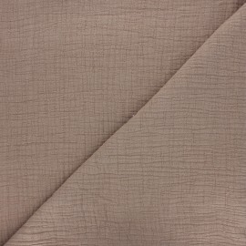 Plain bamboo double gauze fabric - light taupe x 10cm