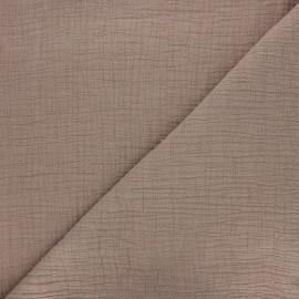 Tissu double gaze bambou uni - taupe clair x 10cm