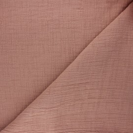 Plain bamboo double gauze fabric - old pink x 10cm