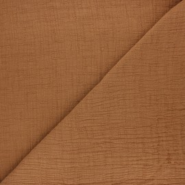 Plain bamboo double gauze fabric - cinnamon x 10cm