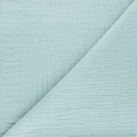 Plain bamboo double gauze fabric - opalin x 10cm