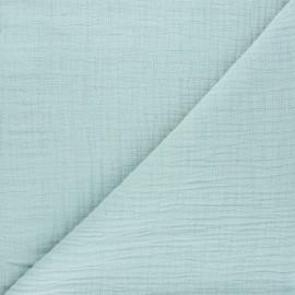 Tissu double gaze bambou uni - opaline x 10cm