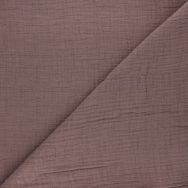 Plain bamboo double gauze fabric - taupe x 10cm