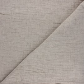 Plain bamboo double gauze fabric - grege x 10cm