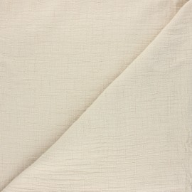 Plain bamboo double gauze fabric - beige x 10cm