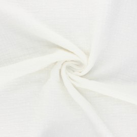Plumetis double cotton gauze fabric - raw x 10cm