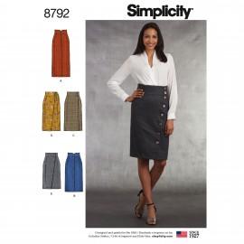 Patron Jupe crayon Femme - Simplicity n°8792