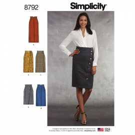 Wrap skirt sewing Pattern for Woman - Simplicity n°8699