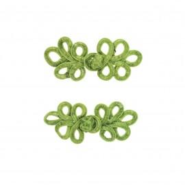 Set of 2 duffle coat toggle - moss green Glory