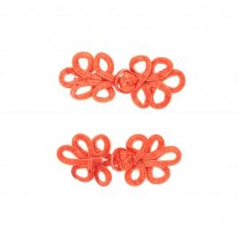 Set of 2 duffle coat toggle - orange Glory