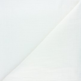Plain bamboo double gauze fabric - raw x 10cm