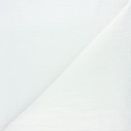 Tissu double gaze bambou uni - écru x 10cm