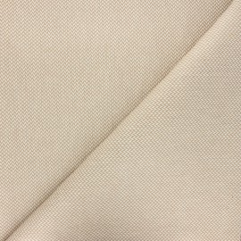 Coated recycled cotton fabric - sand Chevrons x 10cm