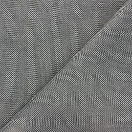Tissu coton enduit recyclé Chevrons - noir x 10cm
