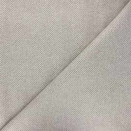 Coated recycled cotton fabric - taupe Chevrons x 10cm