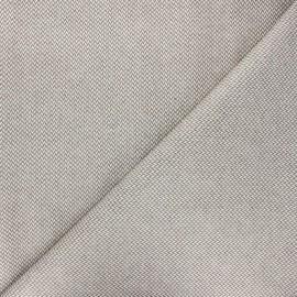 Tissu coton enduit recyclé Chevrons - taupe x 10cm