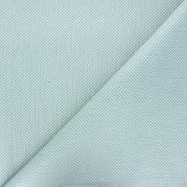 Tissu coton enduit recyclé Chevrons - bleu x 10cm