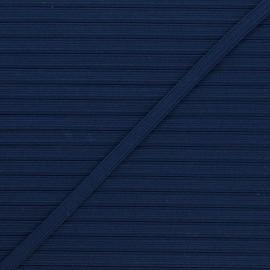 Elastique plat Colores 5 mm - bleu marine x 1m