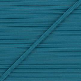 Elastique plat Colores 5 mm - bleu canard x 1m