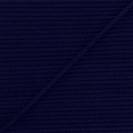 Cordon tricoté Chroma 4 mm - bleu marine x 1m