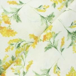 Tissu polycoton enduit mat Mimosa - écru x 10cm