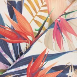 Tissu coton enduit Madagascar - multicolore x 10cm