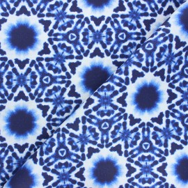 Coated cotton fabric - blue Psyche x 10cm