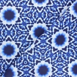 Tissu coton enduit Psyche - bleu x 10cm