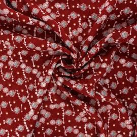 Tissu viscose Prisca - rouge carmin x 10cm