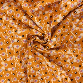 Tissu viscose Prisca - miel x 10cm