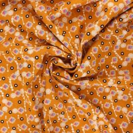 Viscose fabric - honey yellow Prisca x 10cm