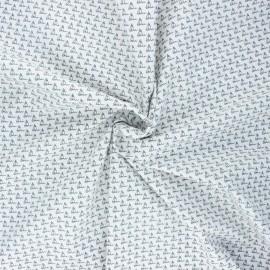 Elastane poplin cotton fabric - white Petit bateau x 10cm