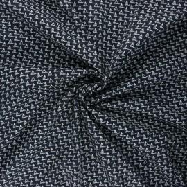 Elastane poplin cotton fabric - night blue Petit bateau x 10cm
