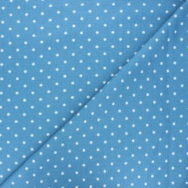 Linen and viscose fabric - swell blue Valence x 10 cm