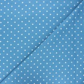 Tissu lin viscose Valence - bleu houle x 10 cm