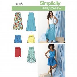 Patron Jupe fluide Femme - Simplicity n°1616