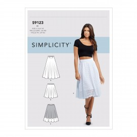Flip skirt sewing Pattern for Woman - Simplicity n°S9123