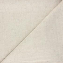 Plain linen and viscose fabric - beige Natura x 10 cm
