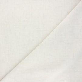 Plain linen and viscose fabric - cream Natura x 10 cm