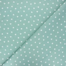 Cretonne cotton fabric - eucalyptus Love x 10 cm