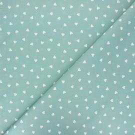 Tissu coton cretonne Love - vert eucalyptus x 10cm