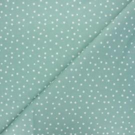 Tissu coton cretonne Starlight - vert eucalyptus x 10cm