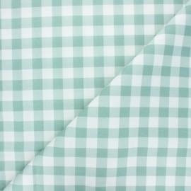 Tissu coton cretonne Vichy - vert eucalyptus x 10cm