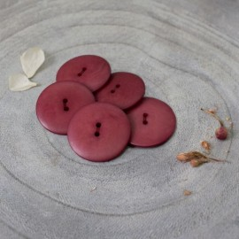 Bouton Corozo Palm Atelier Brunette - Amarante