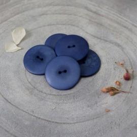 Bouton Corozo Palm Atelier Brunette - Cobalt
