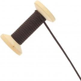3 mm Cotton Braid Ribbon Roll - Chocolate