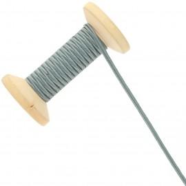 3 mm Cotton Braid Ribbon Roll - Grey